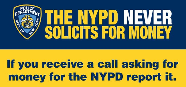 The NYPD Never Solicits for Money